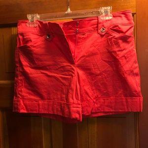 WHBM coral Shorts